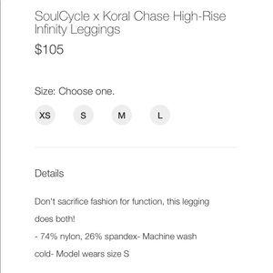 soulcycle Pants - SoulCycle x KoralChase High-Rise Infinity Leggings